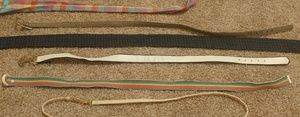 6 belts/neckties all kinds and colors